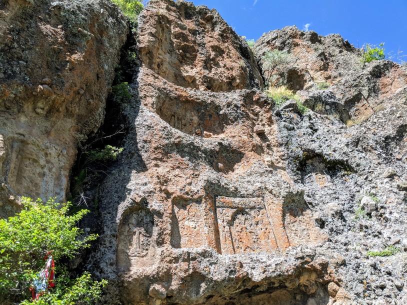 HIKEArmenia Kapuyt Cliffside Carvings
